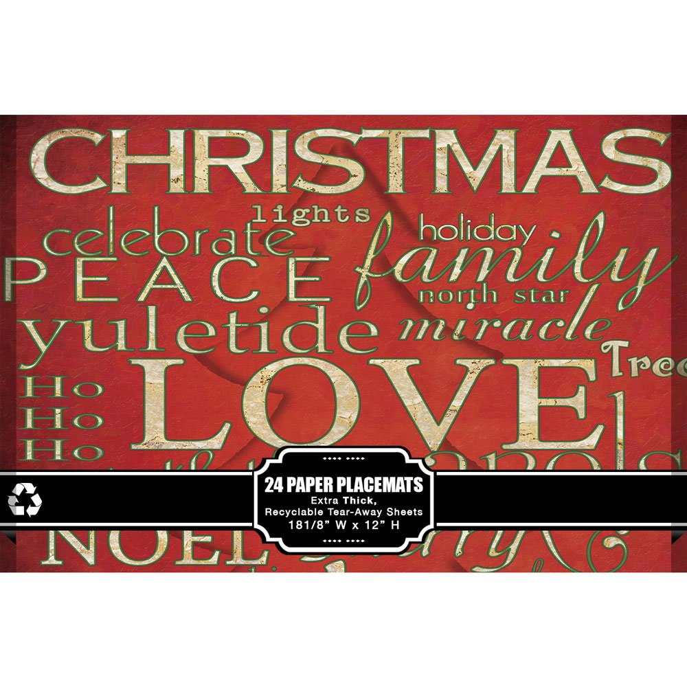 Amazon.com: Christmas Paper Placemats - Pad of 24 Recyclable ...