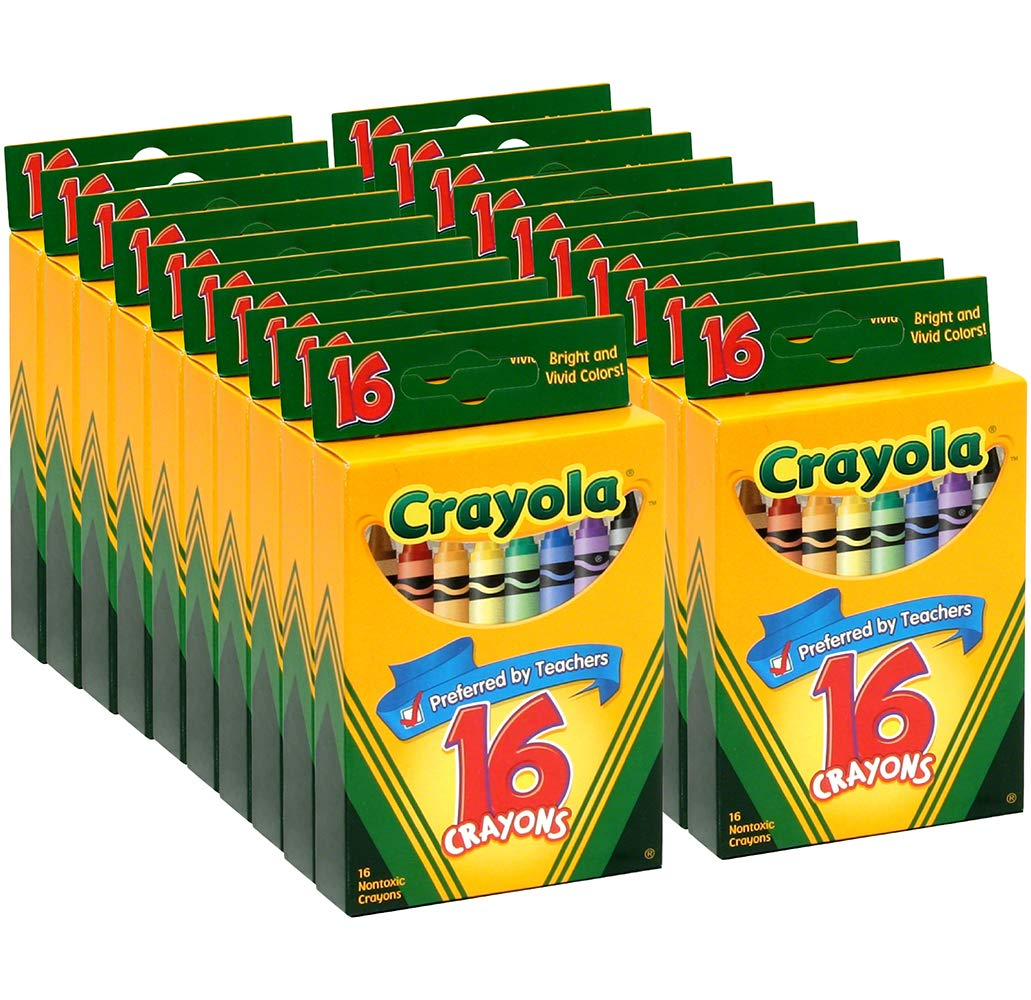 Crayola Classic Color Pack Crayons, 16 Colors (Pack of 20)
