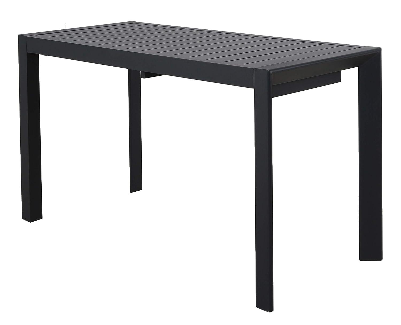 Noir Ambientehome 127-165 x 57 x 71 cm Table Extensible en Aluminium Extra Fine 50200