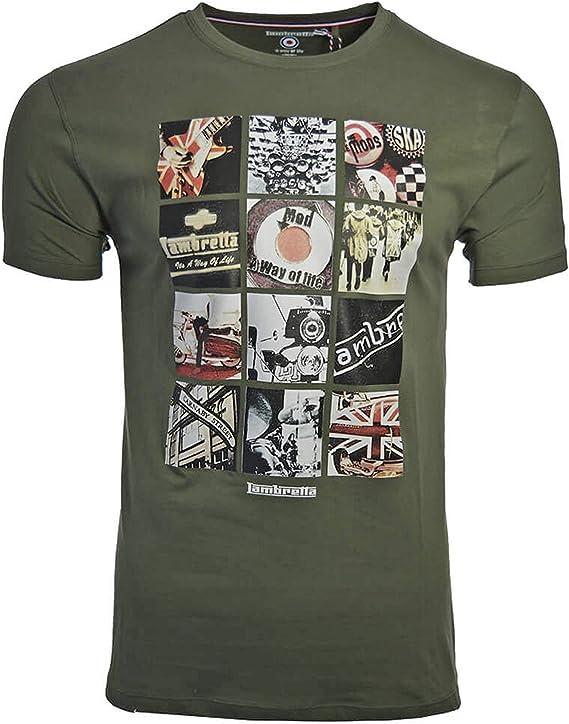 Lambretta - Camiseta - Manga Corta - Hombre Verde Beetle Green 3X Large: Amazon.es: Ropa y accesorios