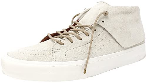 e7af682b0a Vans Sk8 Mid Moc Ca Pig Suede Oyster Gray   Blanc Ankle-High Fashion Sneaker