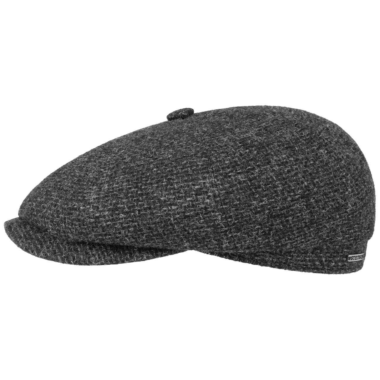 Stetson Hatteras Shetland Wool Flatcap Schirmmütze Wollcap Schiebermütze Wintercap Herrencap für Herren mit Schirm, Futter Winter