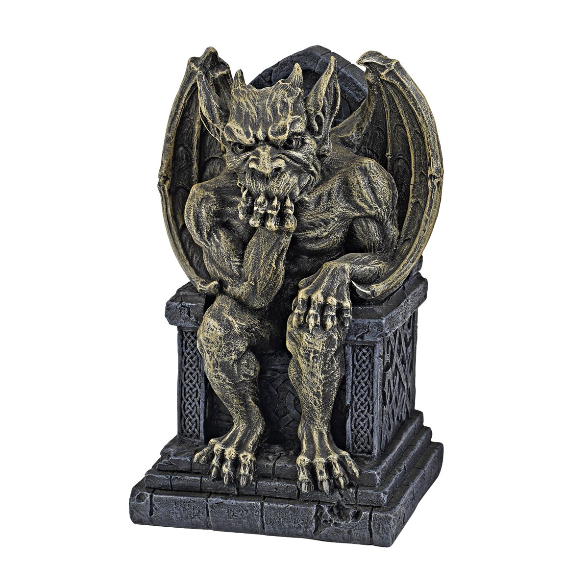 Design Toscano CL5565 Hemlock's Gargoyle Throne Statue - Small