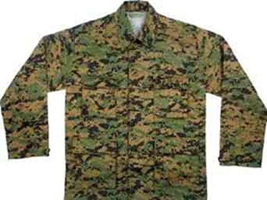 Amazon.com  8691 Digital Woodland Camouflage BDU Shirt 2XL  Military ... 7a478925398