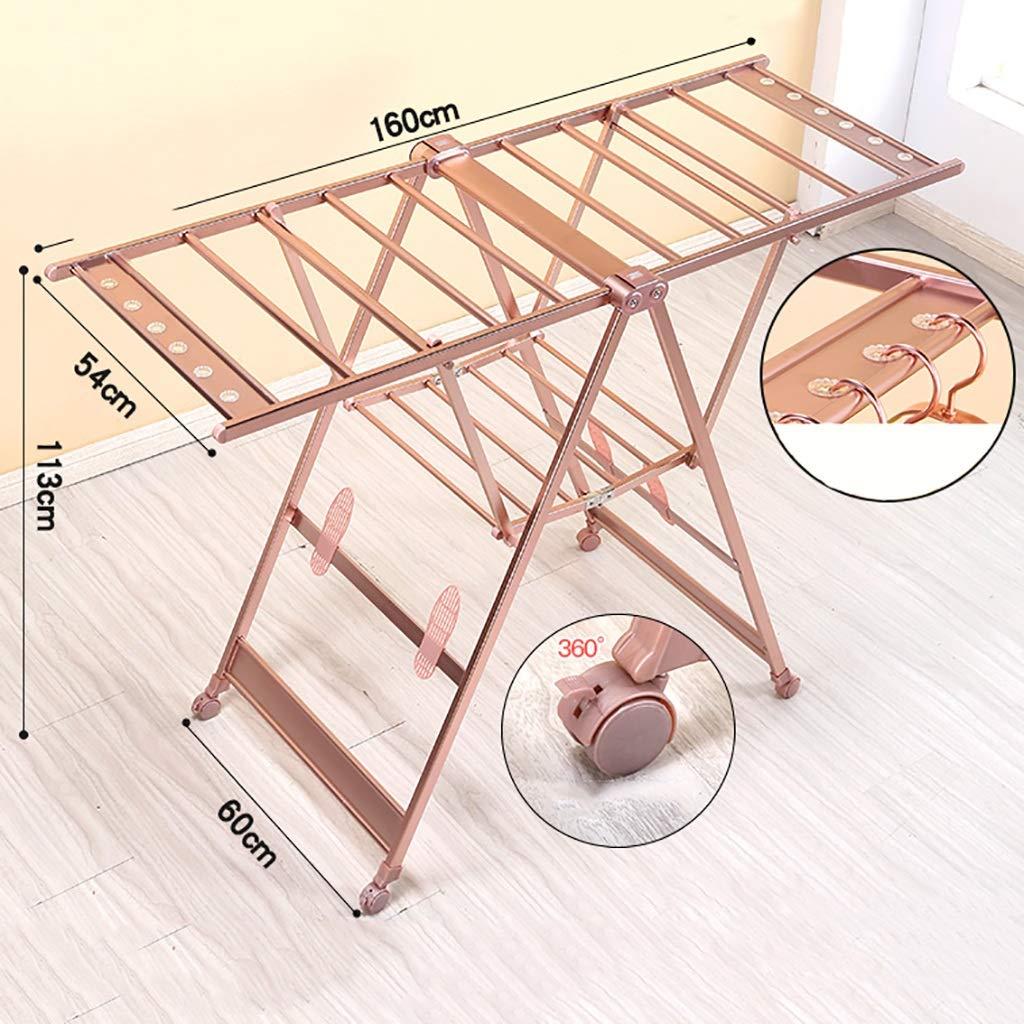 乾燥ラックアルミニウム合金エアフォイル着陸折り畳み式可動式屋内、バルコニーシンプルな日干しラック3色 (色 : A) B07K2WR4P7 A