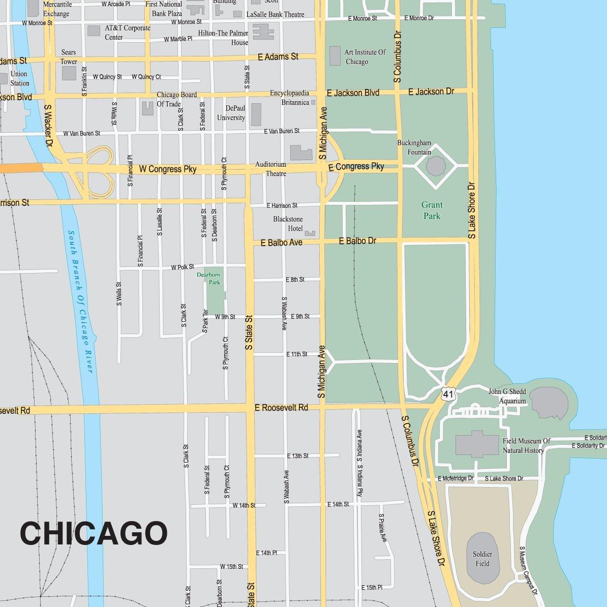 Amazoncom Design Ideas Puzzle Map Chicago Home Kitchen