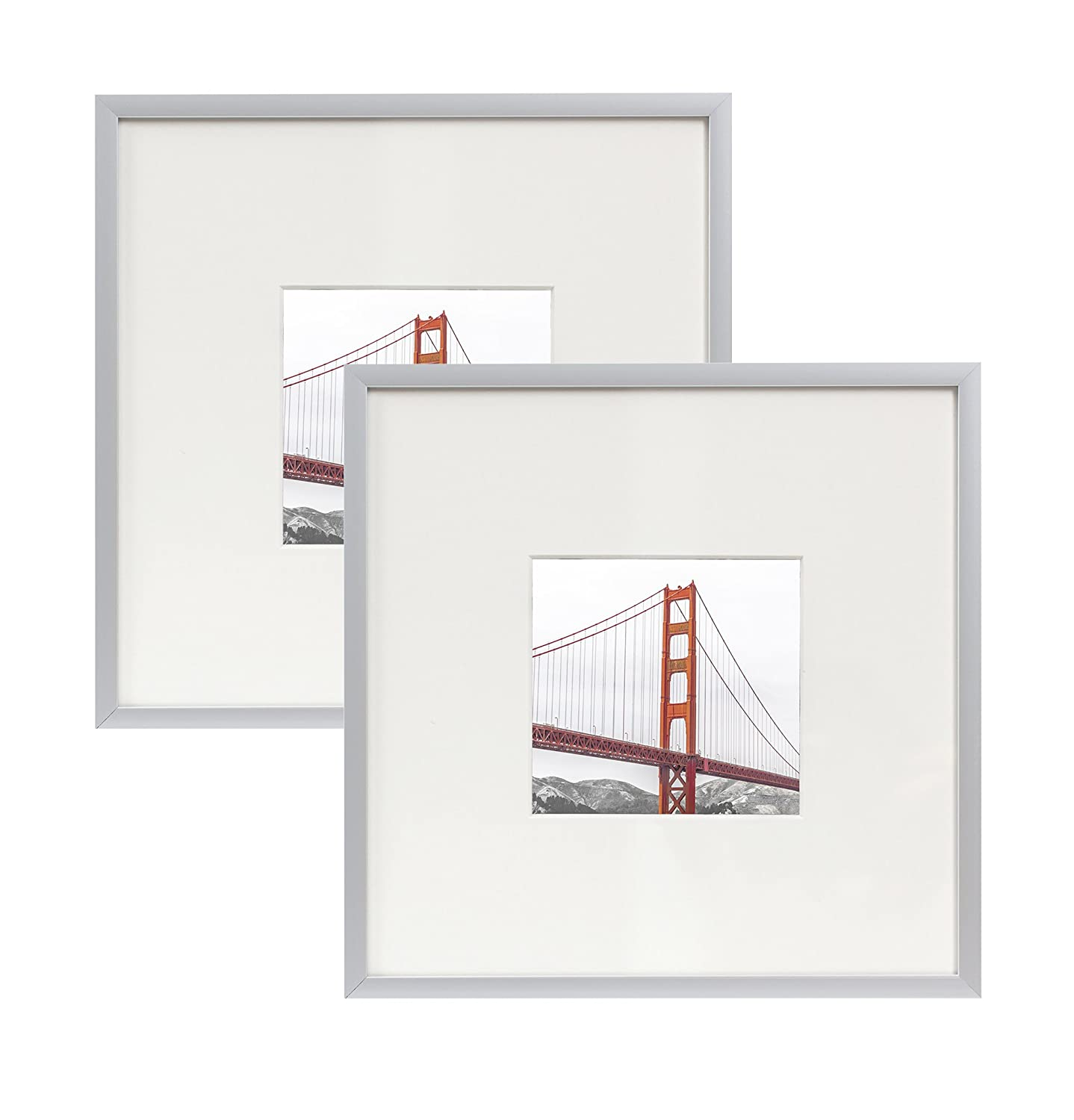 80%OFF Frametory Square Metal Frame Collection Set of 2-8X8 Silver ...