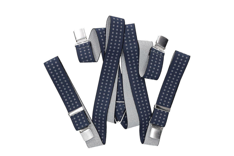 Intarsi Bretelles homme larges 3,5 cm motifs bleu avec clips 120 cm VG6   Amazon.fr  Vêtements et accessoires 88af01c00d29