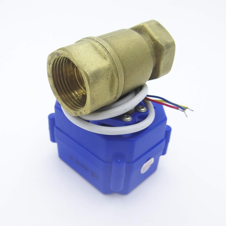 Huopu motorisé Ball Valve électrique Valve DN20G3/10,2cm DC9–24V 3fils CR03