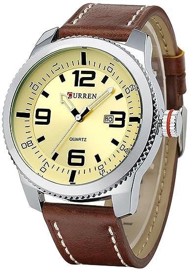 tonnier Hombres Relojes quartz-watch calendario Casual Fashion Business reloj marco plateado de alta calidad