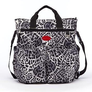 diaper baby bags designer qaw0  HC Leopard Diaper Bag Leopard Print Diaper Bags Trendy Baby Bags Black  Mommy Purse Cute Best