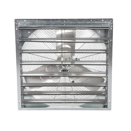 Airmaster 23005 Lower Pressure Shutter Fan, 24 Prop Diameter, 115V, 1 4HP Motor