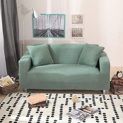 JiaQi Funda elástica,Color sólido Funda de sofá,Terciopelo ...