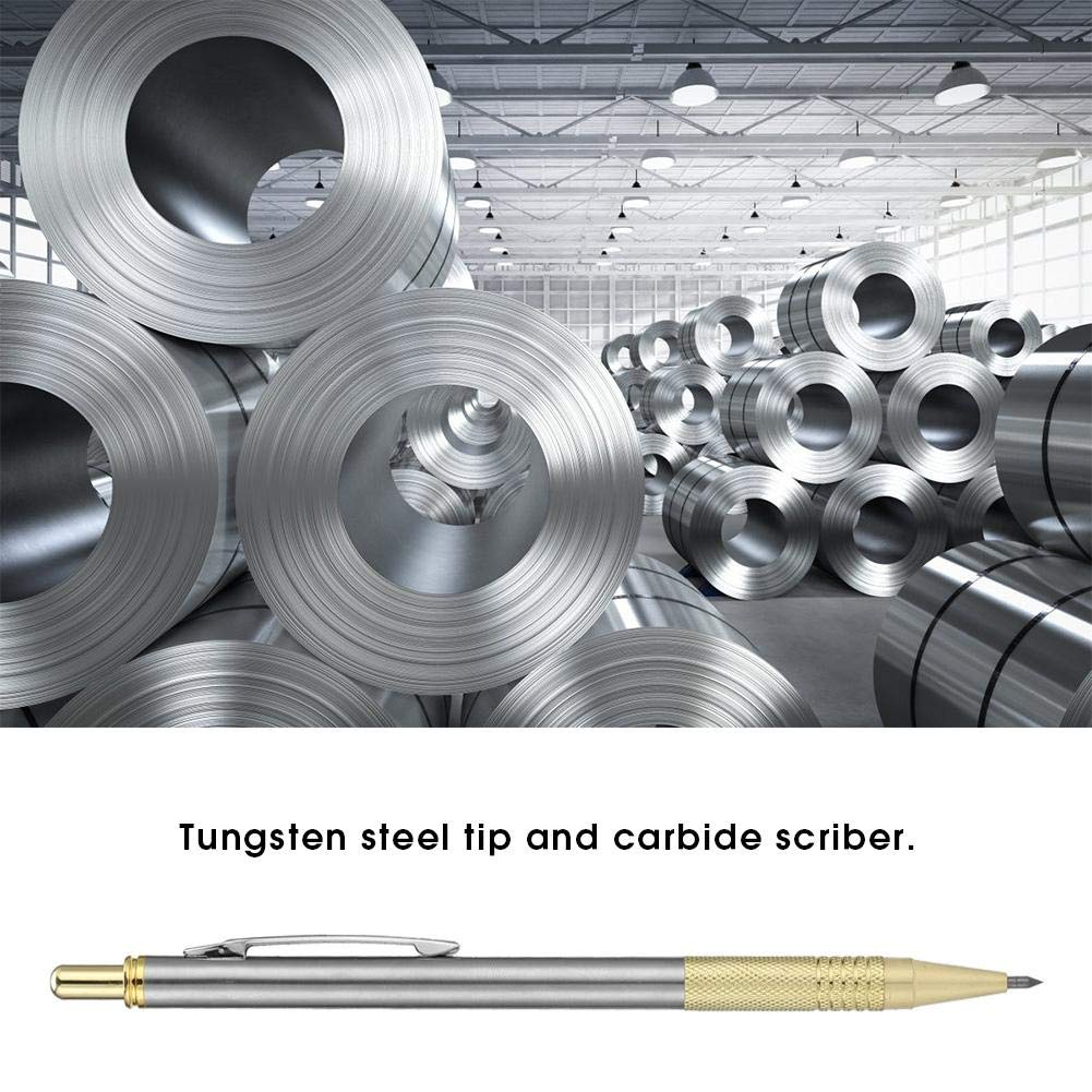 1# Glasschneider Scriber 2 Farben Diamant Glasschneider Scriber Metallschneiden Schriftzug Pen Engraver Glasschneidewerkzeug