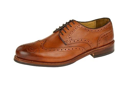 Gordon & Bros - Zapatos de cordones de Piel para hombre, color Azul, talla 45 UE