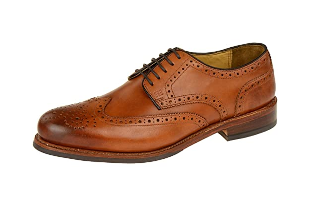 Gordon & Bros Zapatos de Cordones de Piel Para Hombre, Color Marrón, Talla 43 EU
