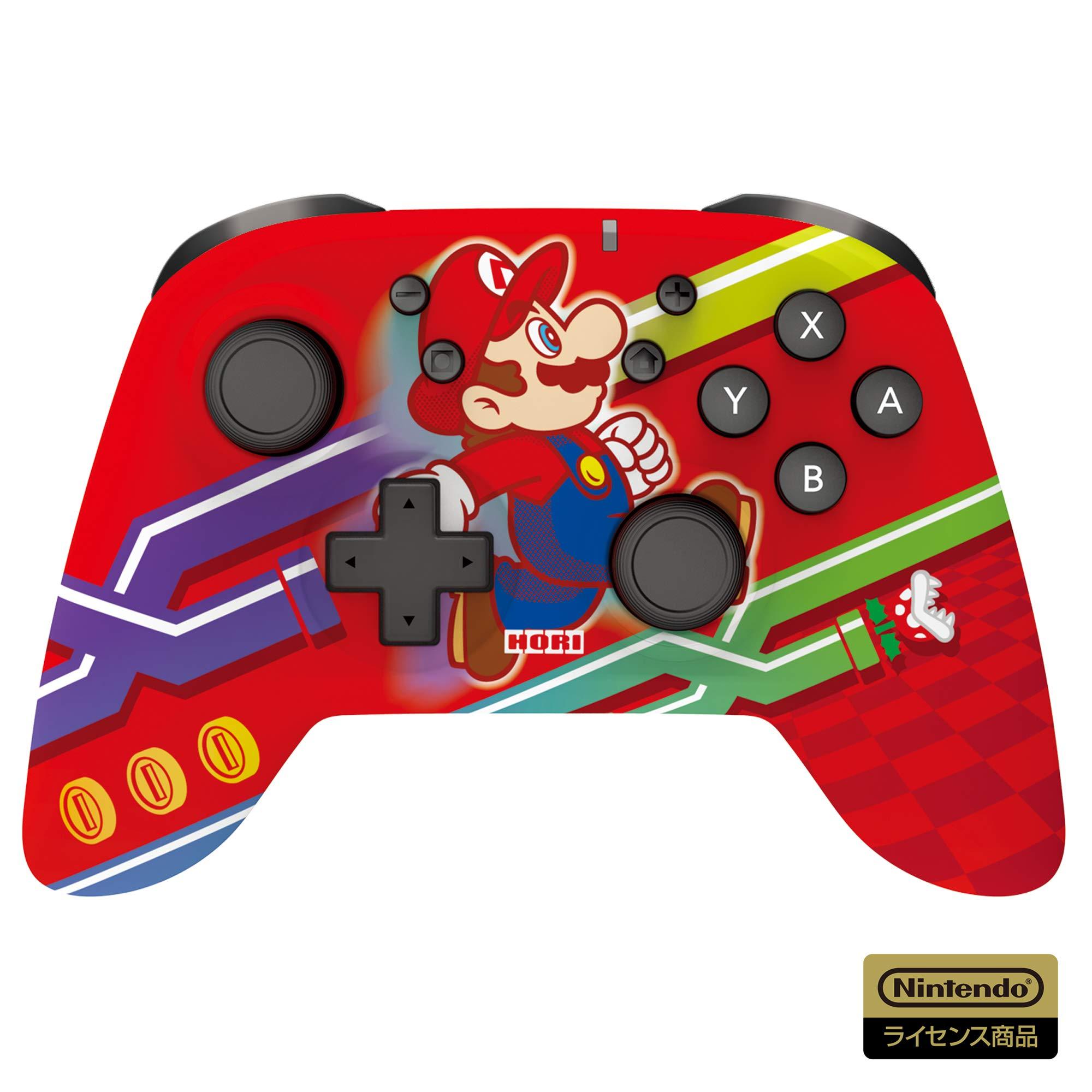マリオデザインの Switch ワイヤレスコントローラーが登場!「ワイヤレスホリパッド for Nintendo Switch スーパーマリオ エディション」【2021年2月発売!】