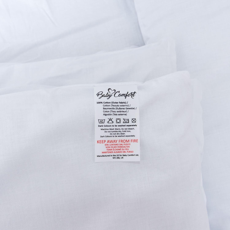 Landau/ /Blanc uni Berceau 2/PC b/éb/é Parure de lit avec taie doreiller Parure de lit de remplissage pour berceau