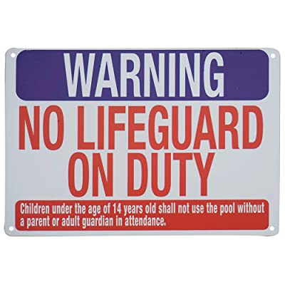 Monifith Pool Safety Rules Sign Warning No Lifeguard on Duty Signs Wall Decor for Commercial Swimming Pools 8X12 Inch: Industrial & Scientific