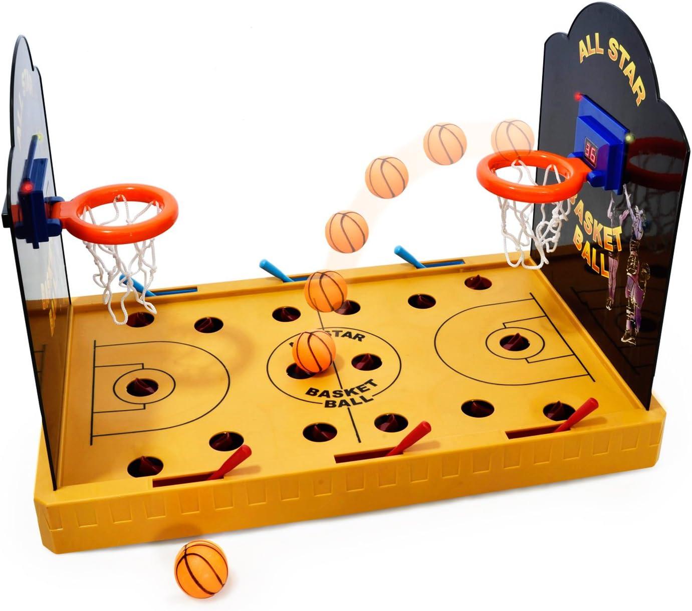 GOODS+GADGETS - Miniatura de baloncesto eléctrico: Amazon.es: Hogar