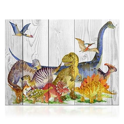 Amazon.com: Kolo Wall Art Retro Vintage Canvas Wall Art Decor Wood ...