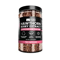 Hawthorn Berry Extract (730 Capsules) 100% Pure & Natural, Potent, Non-GMO & Gluten-Free, Made in USA (1275 mg Serving)