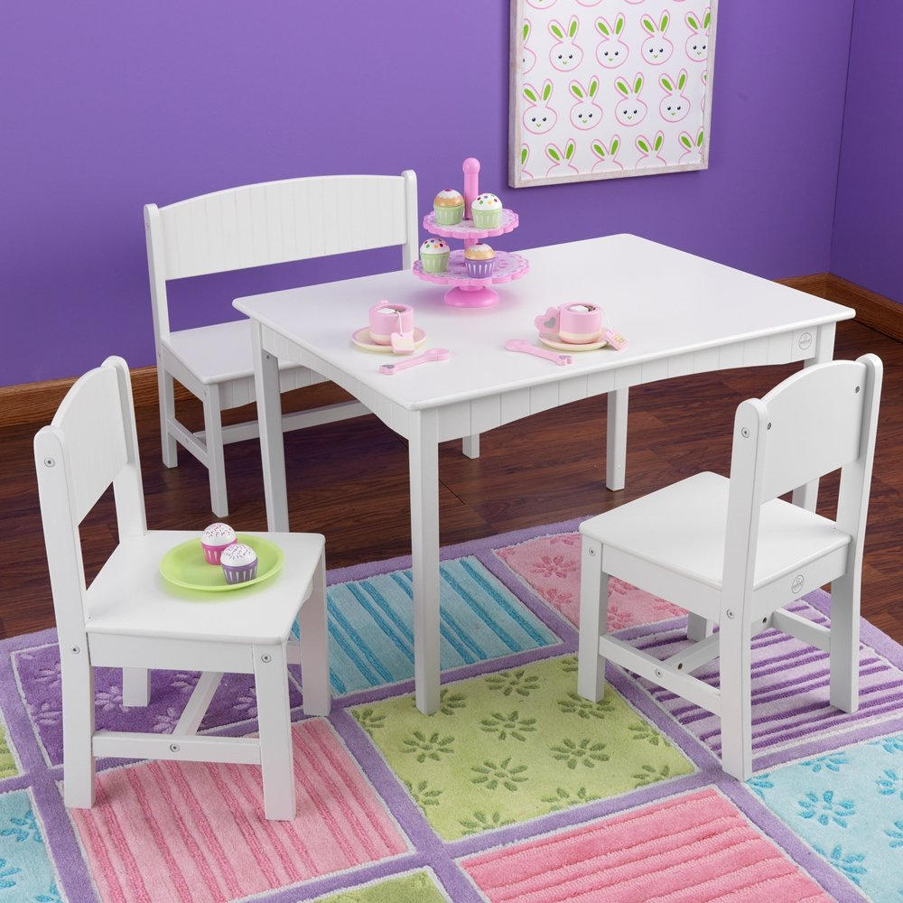 Amazon.com: Nantucket Table with Bench and chairs: Toys & Games