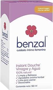 Benzal Ducha Íntima, Douche Instant Vinagre y Agua, Higiene Interna Femenina, 100% Natural, Aroma Herbal, 180 ml