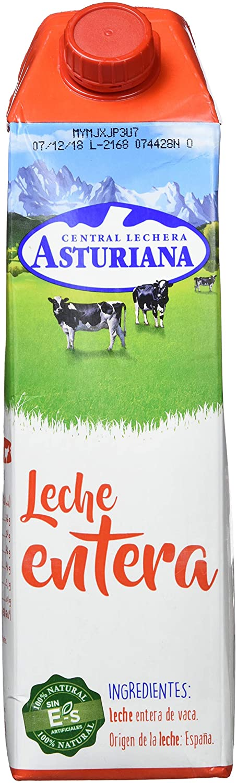 Central Lechera Asturiana - Leche UHT Entera - 1 L: Amazon.es: Alimentación y bebidas