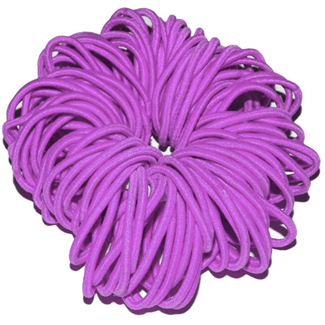 Card Of 6 Womens Girls Snag Free Endless Elastics Bobbles Hair Accessories