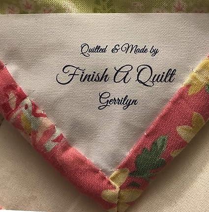 f8185ed2b704 Amazon.com: 8 Custom Iron ON Fabric Quilt Corner Sewing Labels/Tags ...