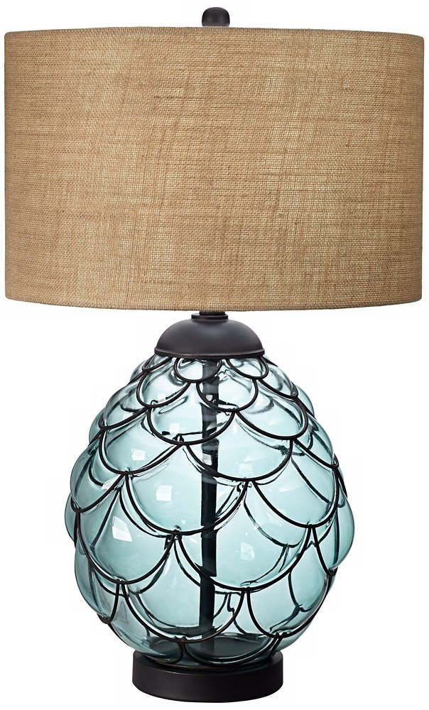 Pacific coast lighting pacific glass table lamp in blue sea pacific coast lighting pacific glass table lamp in blue sea amazon aloadofball Gallery
