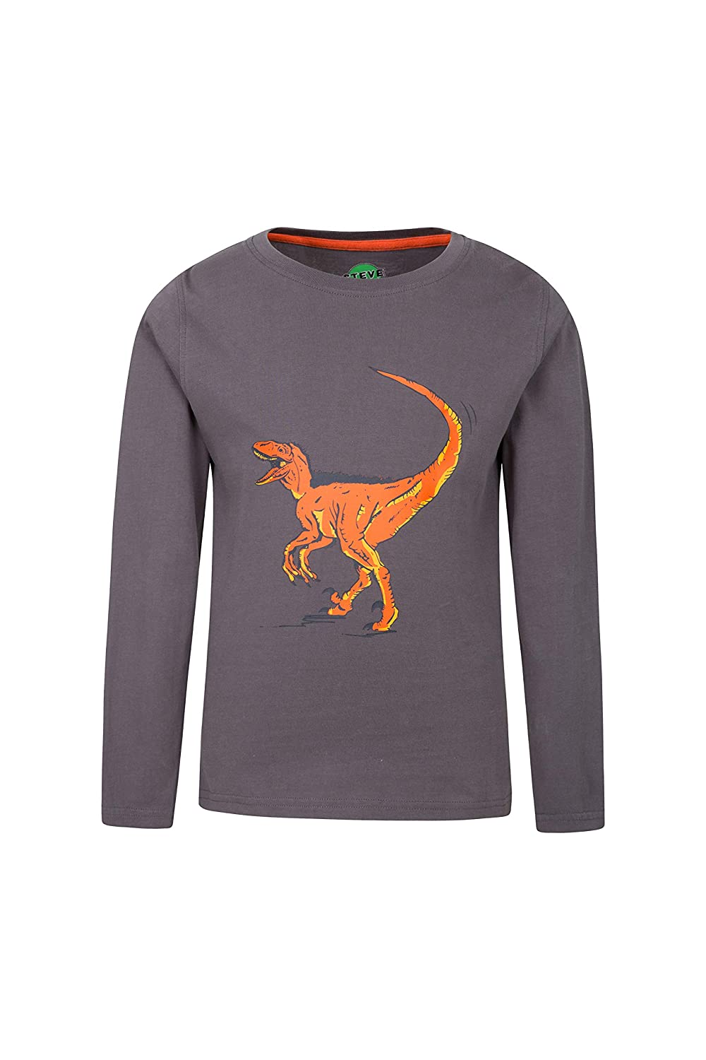 Mountain Warehouse Steve Backshall Dinosaur Kids Tee - 100% Cotton, Breathable Childrens T-Shirt, Lightweight Cute Top, Funny Print Tee - Clothing for Active Use