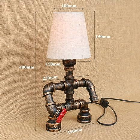 Lámpara de mesa antigua Tela Robot Lámpara de mesa Vintage ...
