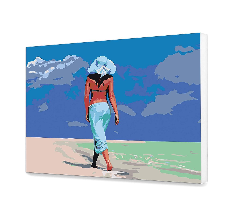 Walking Woman Paint By Numbers DIY Kit Sea Painting By Number Art Sky Paint By Numbers Canvas Painting By Numbers Painting Kit Hobby Art