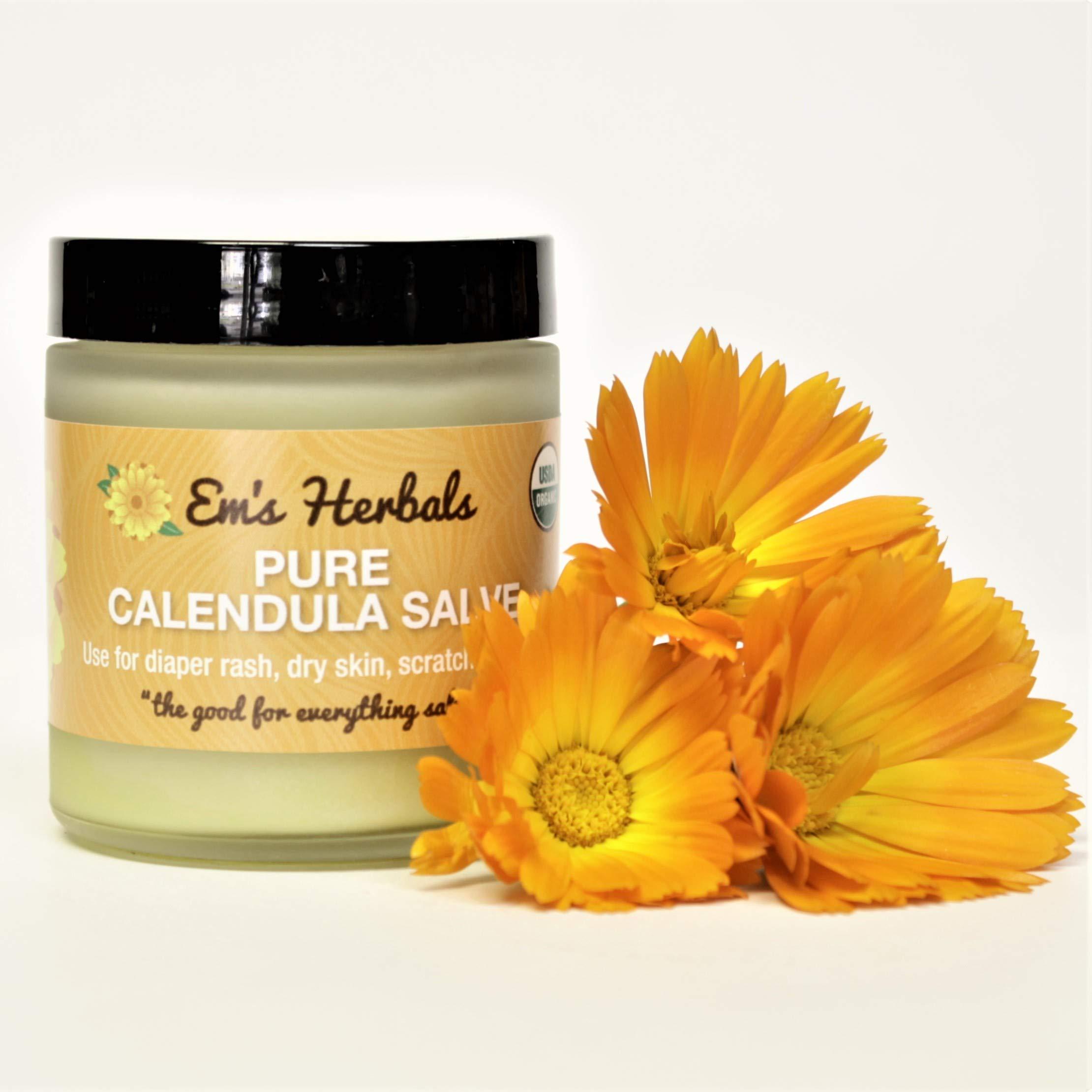 Em's Herbals Pure Calendula Salve, 8 oz. by Em's Herbals