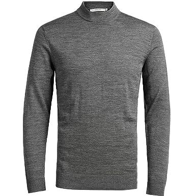a2e61c37be77 Jack & Jones Premium Mark High Neck Knitwear Grey Mel Small Grey Mel ...
