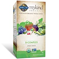 Garden of Life B Complex with Folate - mykind Organic Whole Food Supplement for...
