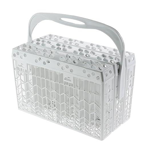 Spares2go Slimline cesta de cubiertos de tapa y asa para ...