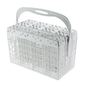 Spares2go Universal Slimline cesta de cubiertos de tapa y mango para lavavajillas