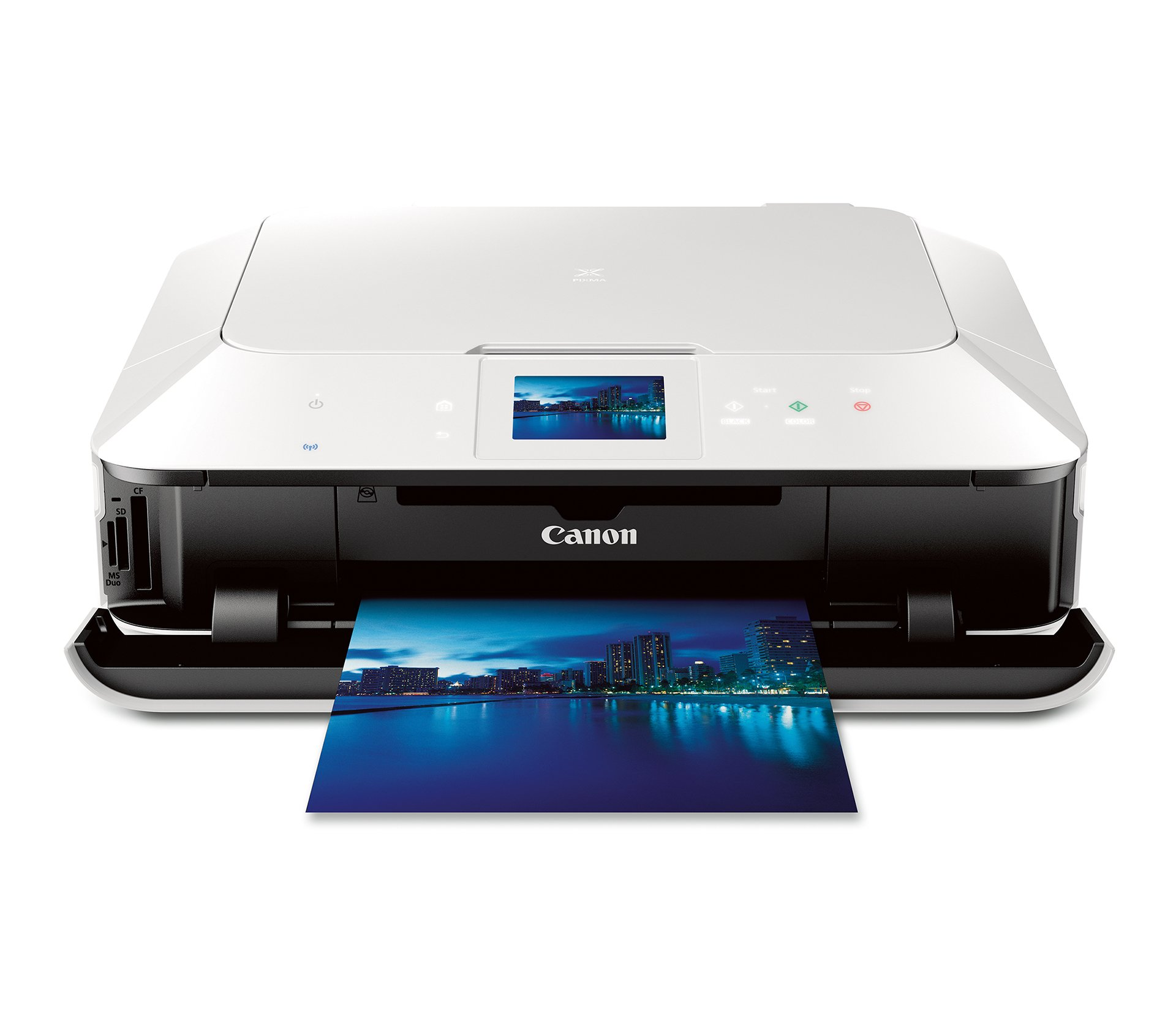 Canon PIXMA MG7120 Wireless Color Photo All-In-One Printer, Mobile Smart Phone and Tablet Printing, White