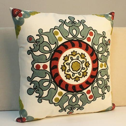 Algodón bordado almohada/almohada/almohada de algodón ...