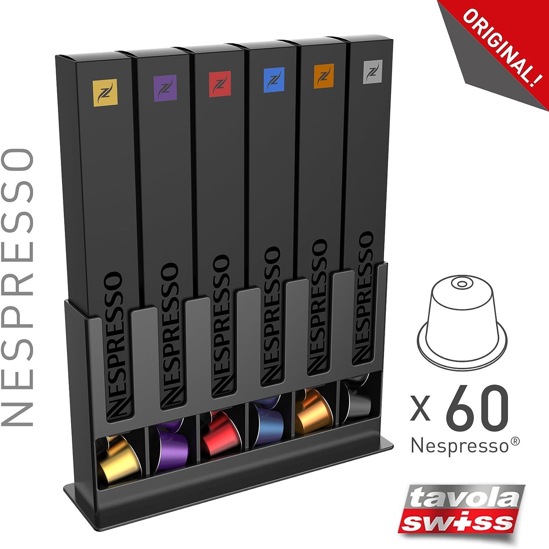 tavolaswiss Dispensador de cápsulas de Nespresso, Negro, 25x15x7cm: Amazon.es: Hogar