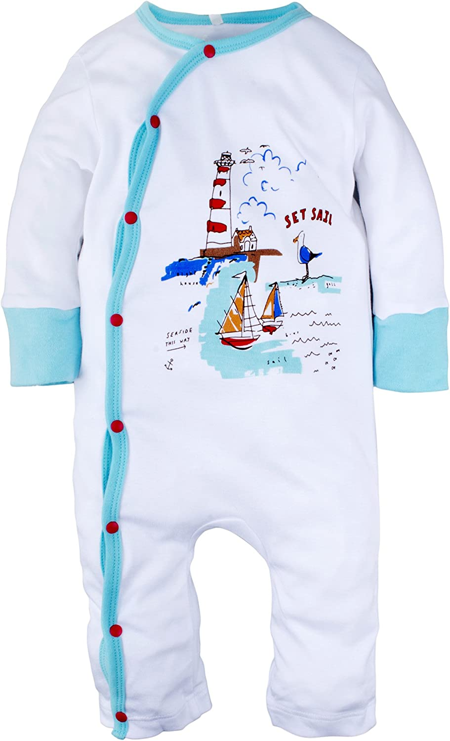 Yinson Baby Toddler Boys Loose Fit Onesies Pajamas Sleepwear Footed and Footless 0-4 Years