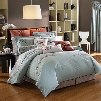 Lenox Chirp Queen Comforter Set, Blue