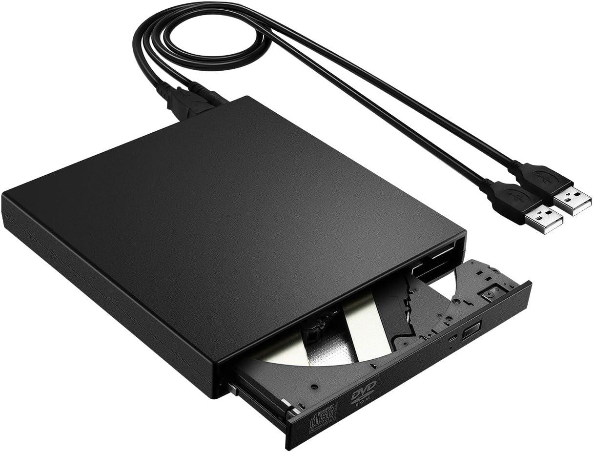 VicTsing USB 3.0 External CD Drive Portable External CD-RW Drive DVD-R Combo Burner Player Writer for Laptop Notebook PC Desktop Computer Black