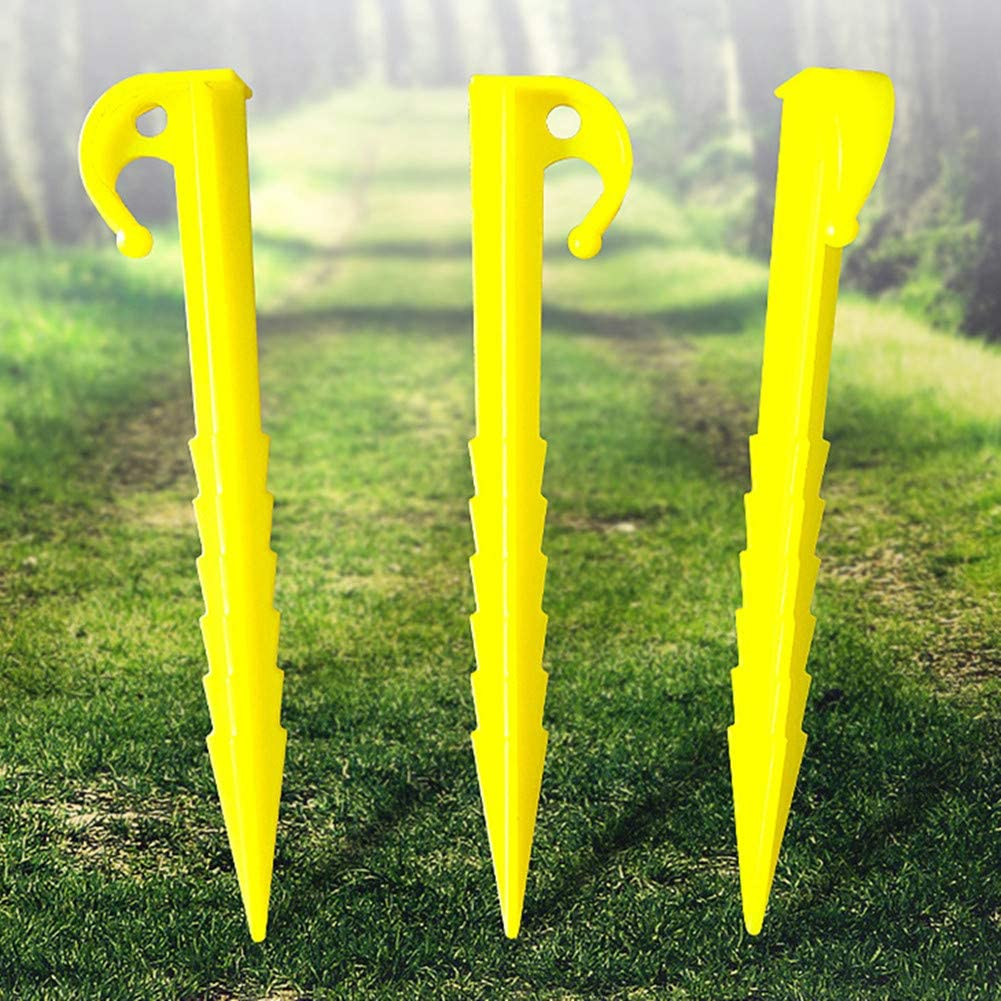 Garden Airoads Tent Pegs Garden Stakes 12 Pack Durable and Strong Plastic Tent Stakes for Beach Mat Hiking Camping