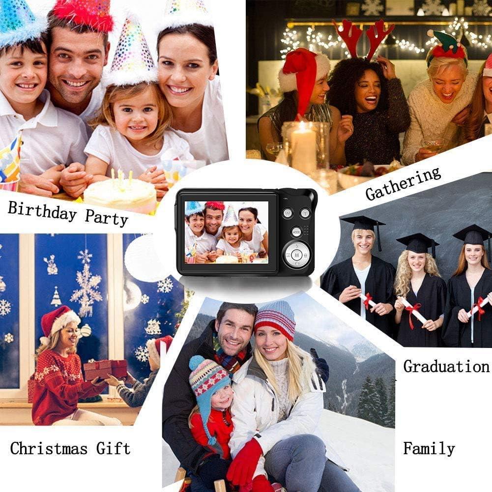 Digital Camera 2.7inch HD Mini Digital Video Camera Point and Shoot Students Digital Camera for Kids Teenagers Beginners