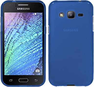 TBOC® Funda de Gel TPU Azul para Samsung Galaxy J3 (2016): Amazon ...