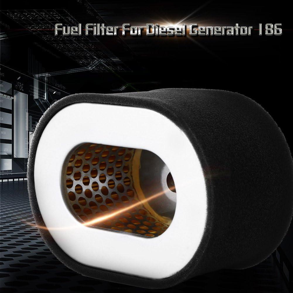 akozon Diesel Generador de aire Filtro de repuesto Filtro de gas/óleo del acero inoxidable de 1pc para diesel Generador de m/áquina negras 186